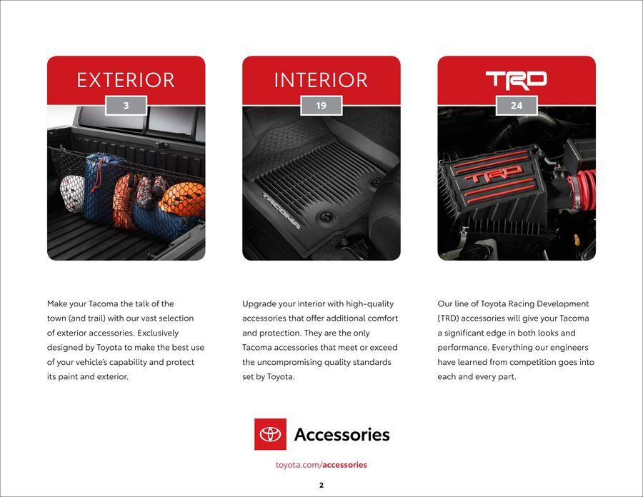 2019 Tacoma Accessory eBrochure by Toyota Motors