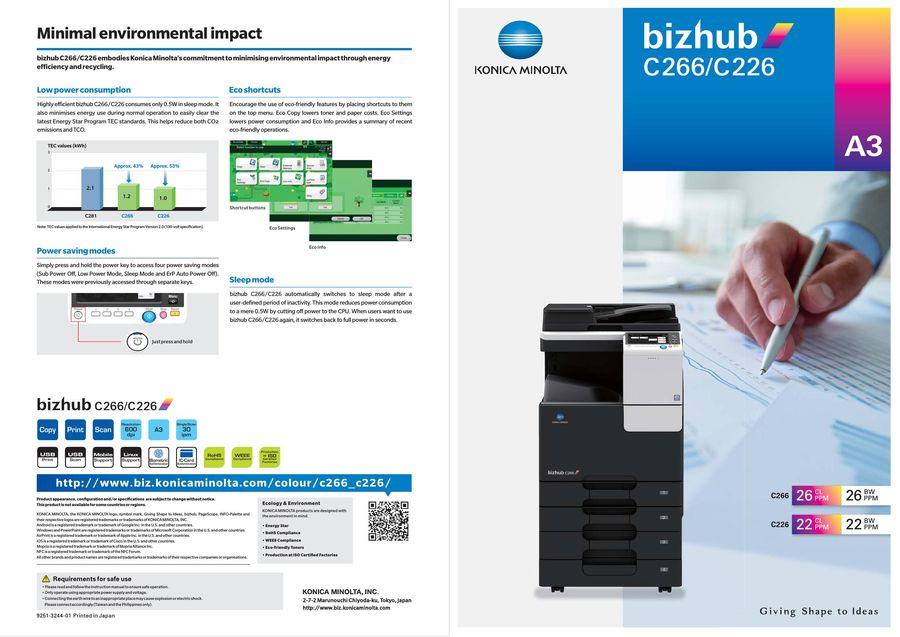 bizhub C266/C226 2017 by Konica Minolta Business Solutions