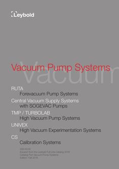 Vacuum Pump Systems 2016
