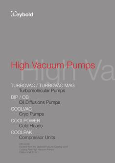 High Vacuum Pumps 2017