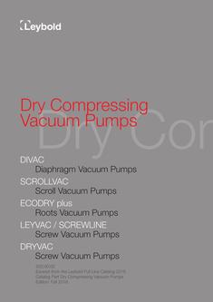 Dry Compressing Vacuum Pumps 2016