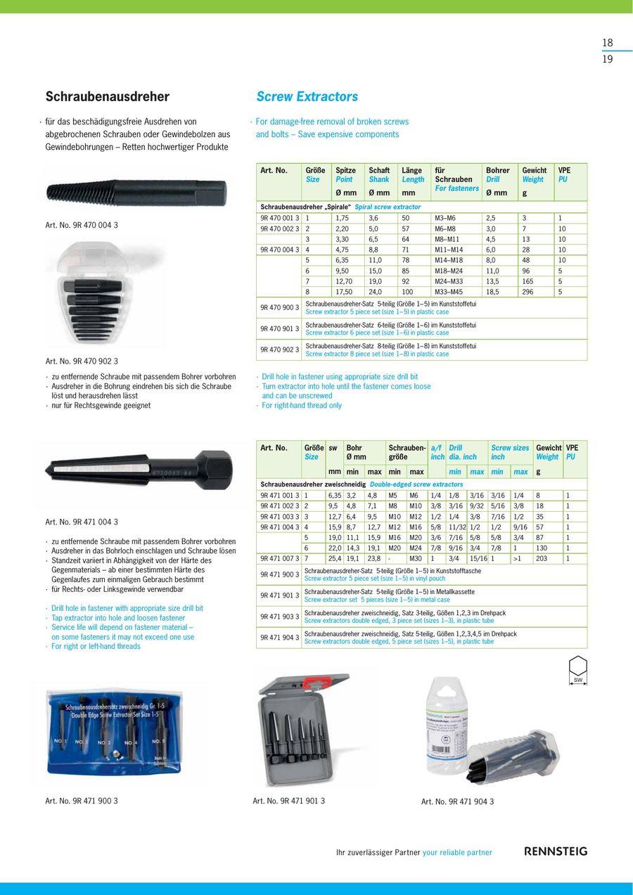 Knipex 9R 439 130 Ersatzspitze automatischer K/örner