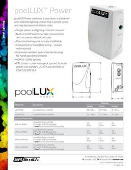 poolLUX Power Data Sheet 2019