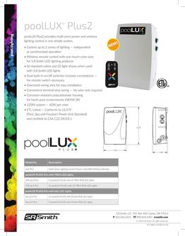 poolLUX Plus2 Data Sheet 2019