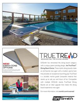 TrueTread Diving Boards Sales Sheet 2018
