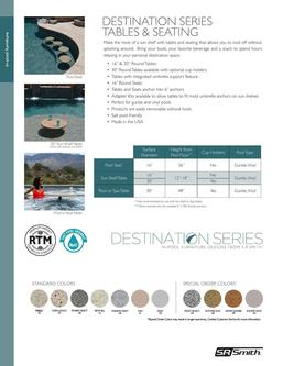 Destination Series Tables & Seating 2019