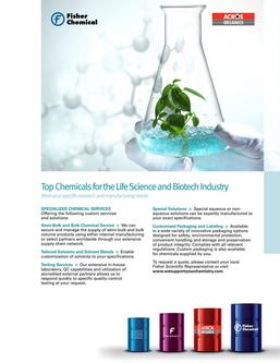 Top Chemicals for Life Sciences & Biotech Industry 2017