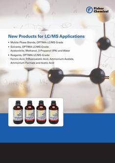 New Products for LC-MS Applications 2017