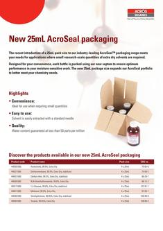 New 25mL AcroSeal packaging 2017