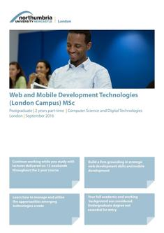 Web and Mobile Development Technologies (London Campus) MSc 2016
