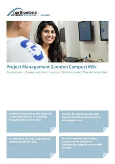 Project Management (London Campus) MSc 2017