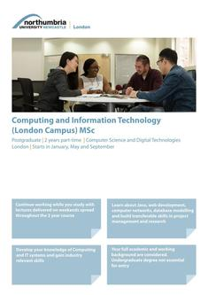 Computing and Information Technology (London Campus) MSc 2017