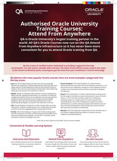Authorised Oracle University Training Courses 2017
