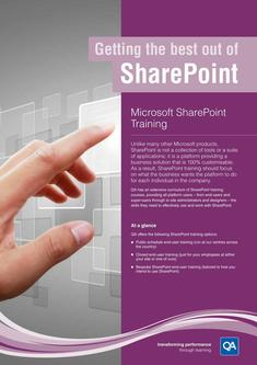 Microsoft SharePoint Training 2017