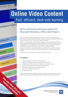 QAs	continuous learning support for Microsoft Windows, Office and Project 2017