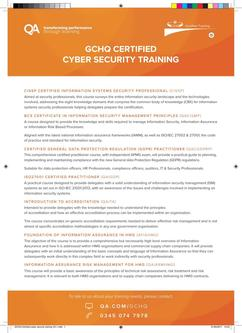 GCHQ Cyber Security Training 2017