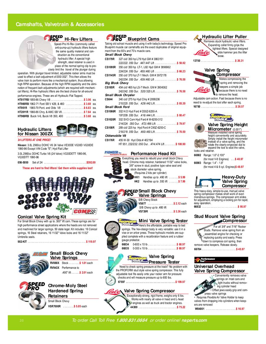 Speed Pro cam and lifter kit 351w Hi Perf cs1084r ht900 1500-4000 rpm