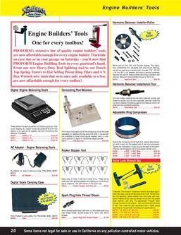 Engine Builders' Tools