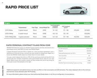 Rapid Pricelist Jan 2019