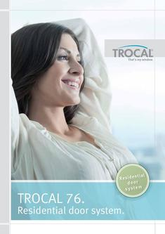 TROCAL 76 residential door inward opening 2017