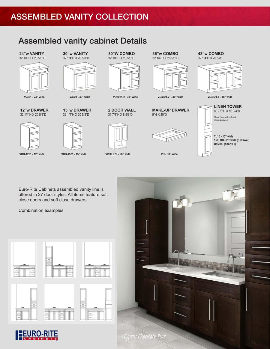 advantageplus bathroom brochure 2017 by euro rite cabinets