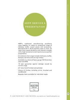 Collections - Hepp Service & Presentaion 2017