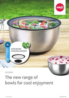 ACCENTA The new range of bowls for cool enjoyment 2017