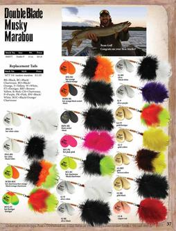 Double Blade Musky Marabou & Replacement Tails 2017