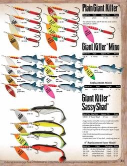 Plain Giant Killer®, Giant Killer® Mino, Giant Killer® Sassy Shad® 2017