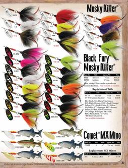 Musky Killer®, Black Fury® Musky Killer®, Comet® MX Mino 2017