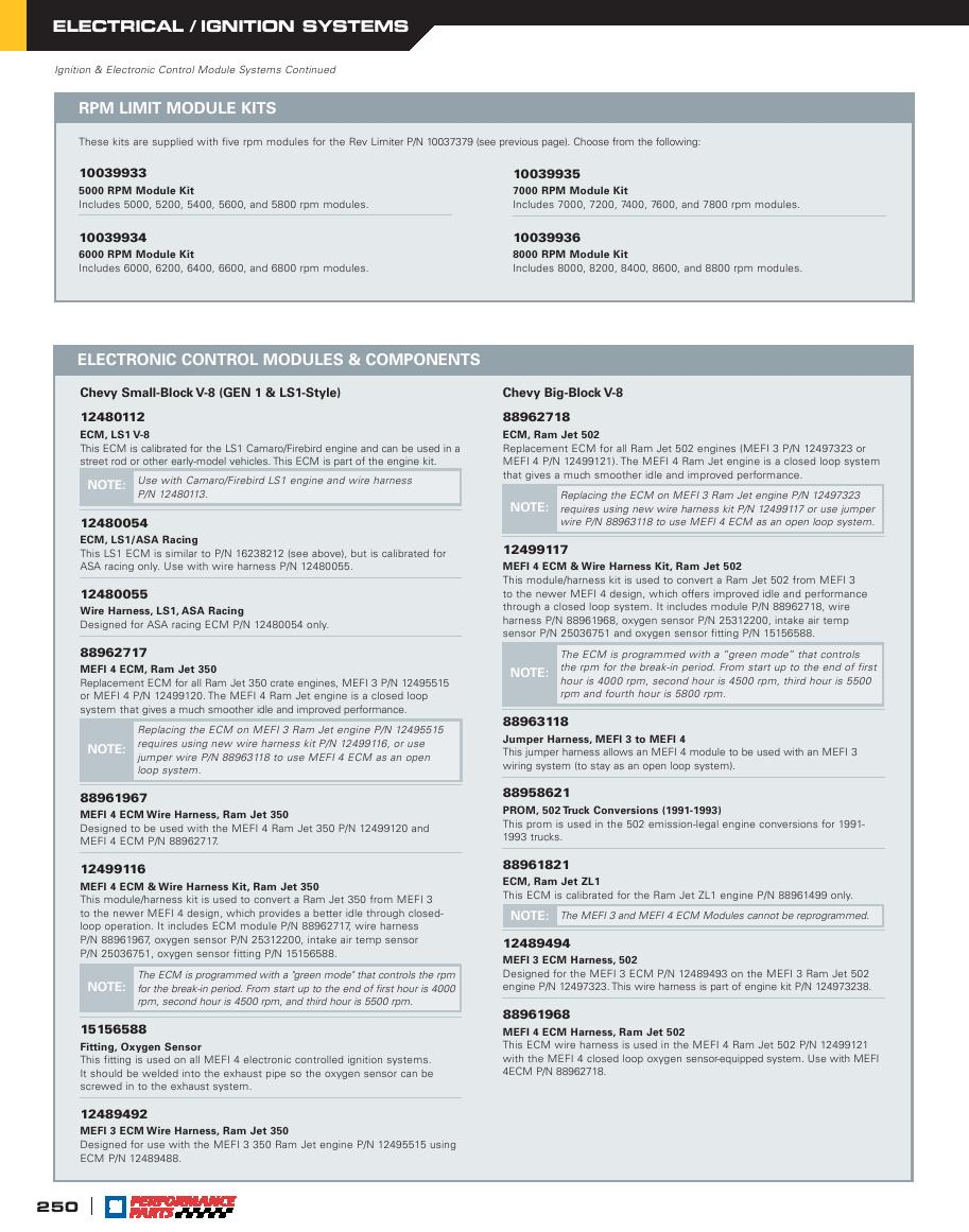 Page 252 Of Gm Performance Parts 2006 Catalog Wire Harness P 322