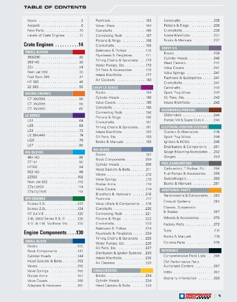 page 3 of gm performance parts 2006 catalog