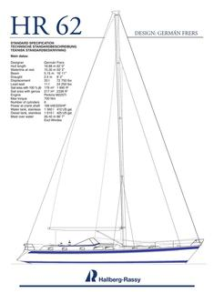 Hallberg-Rassy 62 Standard Specification