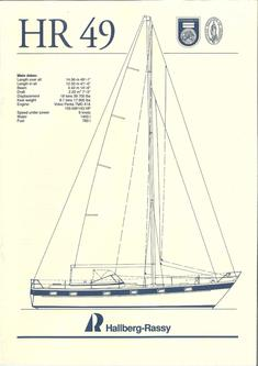 Hallberg-Rassy 49 Standard specification