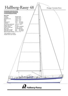 Hallberg-Rassy 48 Mk I standard specification