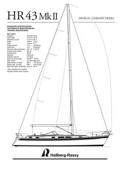 Hallberg-Rassy 43 Mk II standard specification