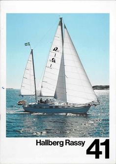 Hallberg-Rassy 41 Swedish colour brochure