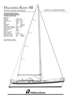 Hallberg-Rassy 40 Classic interior standard specification