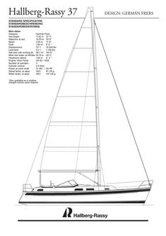 Hallberg-Rassy 37 standard specification