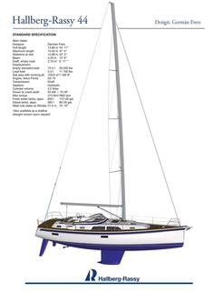 Hallberg-Rassy 44 standard specification