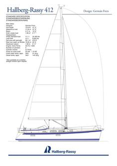 Hallberg-Rassy 412 standard specification