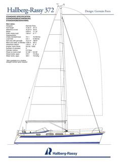 Hallberg-Rassy 372 standard specification