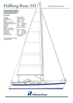 Hallberg-Rassy 342 standard specification