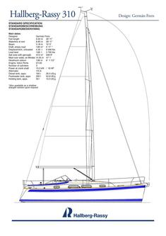 Hallberg-Rassy 310 standard specification