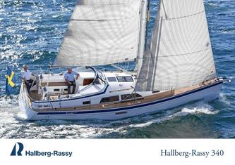 Hallberg-Rassy 340 colour brochure and standard specification