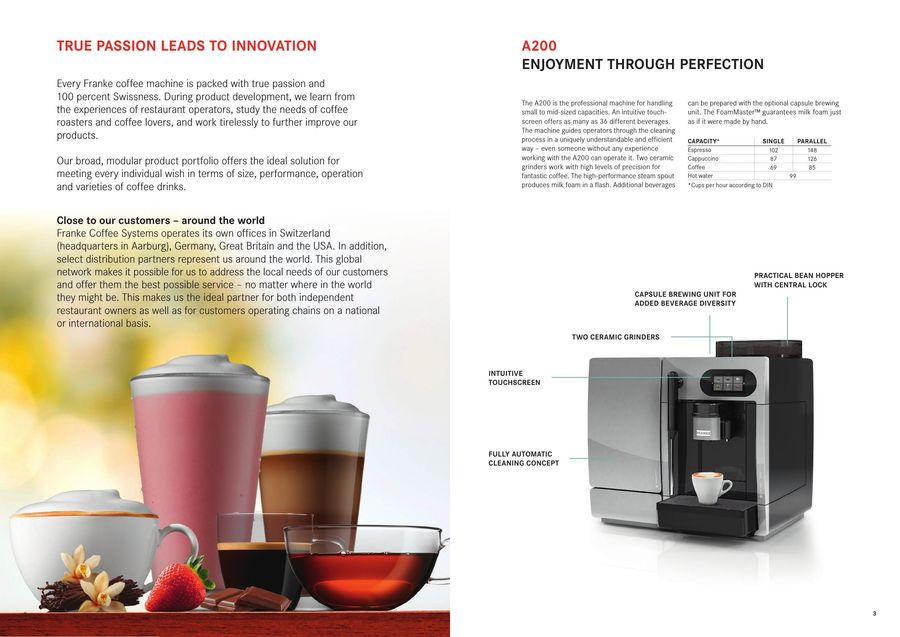 Automatic coffee machine 09-2016 by Franke Coffee Systems