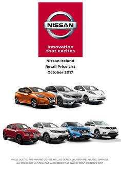 Nissan Ireland Price List October 2017