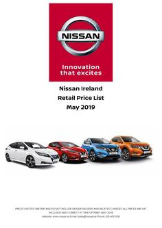 New Nissan Ireland Price List May 2019