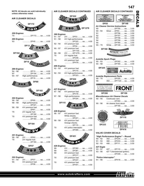 Catalogue: Auto Krafters, Inc. Galaxie and other Full-Size Ford Parts & Accessories 2010 part 4