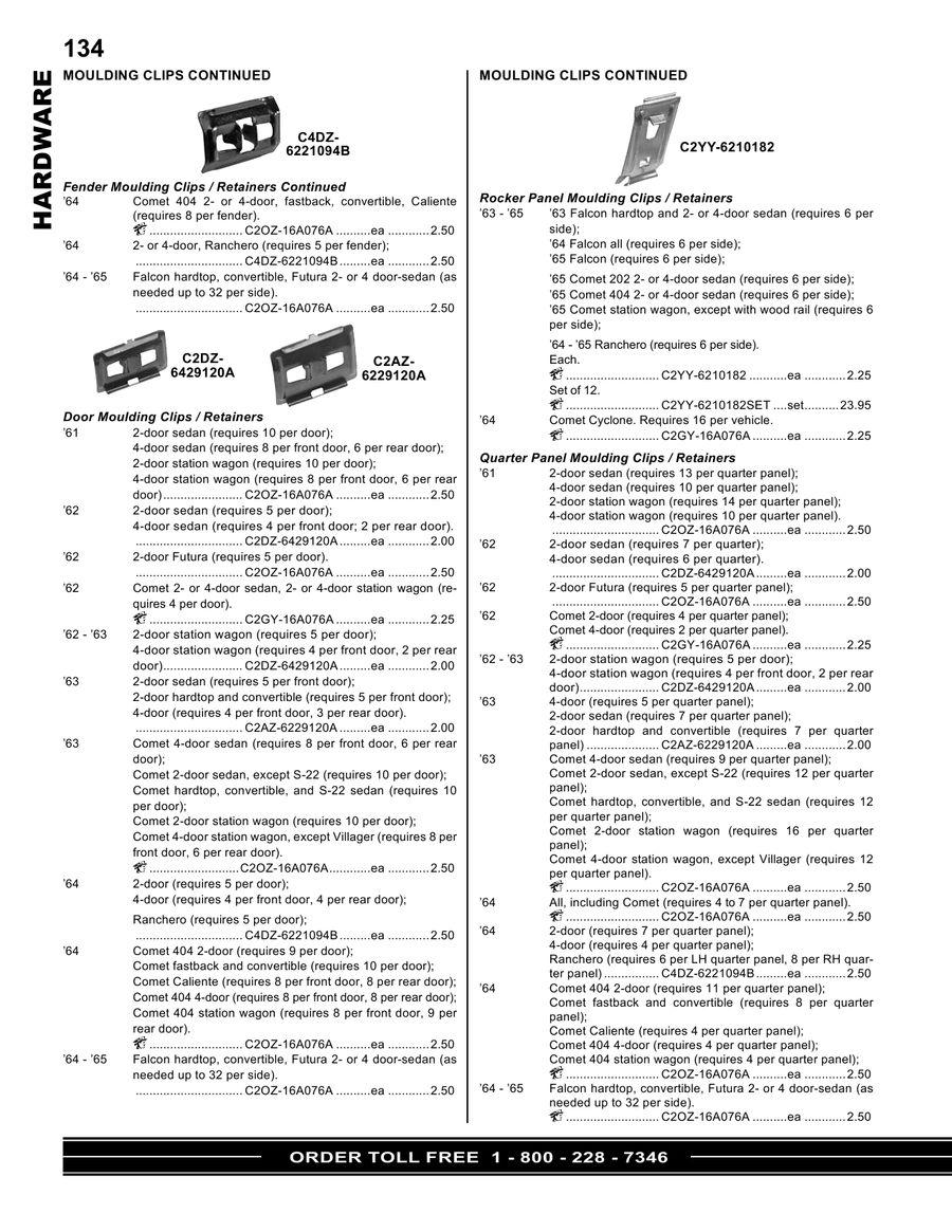 Page 32 of Ford Falcon - Ranchero - Comet - Cyclone Parts
